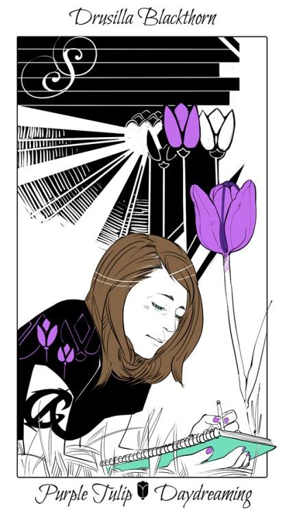 drusilla flower card