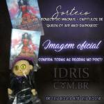 """[ATUALIZADO COM RESULTADO] Sorteio IdrisBR: Boneco Magnus + capítulos de """"Queen of Air and Darkness""""!"""