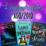 Lançamentos literários brasileiros: Agosto/2018
