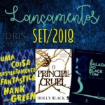 Lançamentos literários brasileiros: Setembro/2018