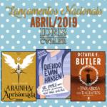 Lançamentos literários brasileiros: Abril/2019