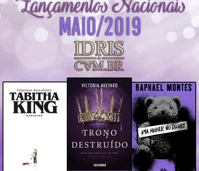 Lançamentos literários brasileiros: Maio/2019